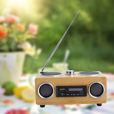 Super Bass Stereo Multimedia Bamboo Speaker TF Card/USB/FM Radio/MP3 Player Hifi