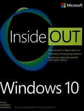 Inside Out: Windows 10 Inside Out by Carl Siechert, Microsoft Microsoft...