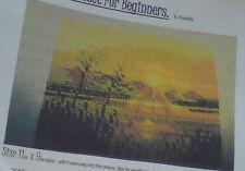 Sunset è un punto croce kit ideale per i principianti con ancoraggio/Arianna Threads
