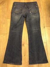 ROCK & REPUBLIC~Women's Stretch Denim ROTH Flare Dark Denim Jean- Size 31
