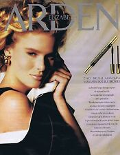 PUBLICITE ADVERTISING 045 1990 ELIZABETH ARDEN mascara double brosse