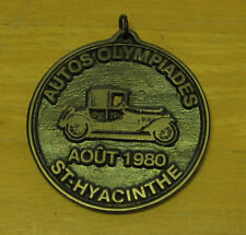 Medal Canada Quebec Autos Olympiades st Hyacinthe 1980 2 3/4 inches