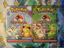 "Carte POKEMON Mazzi set JUNGLE ""Getto d'acqua/Super Power"" ITA NUOVI SIGILLATI"