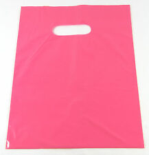 "10  20"" x 5 x 20"" NEW PINK GLOSSY Low-Density Premium Plastic Merchandise Bags"
