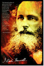 JAMES CLERK MAXWELL ART PHOTO PRINT POSTER GIFT PHYSICS QUOTE