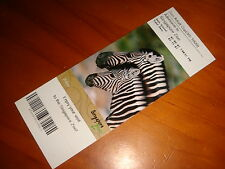 Singapore Zoo, Collectible 2007 Admission Ticket, Unused Expired