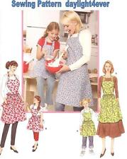 Women Girl Retro Vintage Apron Sewing Pattern 3949 Simplicity Size S-M-L New   u