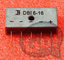 1PCS NEW SEMIKRON DBI6-16 Encapsulation:ZIP-5,Three-Phase Si-Bridge Rectifiers