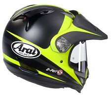 Arai XD 4 Route Yellow FREE Dark lens option motorcycle helmet Dual sport  M L