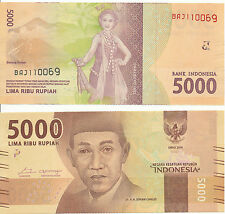 L' Indonésie/Indonesia - 5000 rupiah 2016 New Design unc pick new
