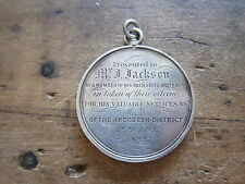 Rare Antique Religious Sterling Silver Pre Prohibition Temperance IOR Medal Coin