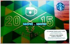 STARBUCKS COFFEE 2014 GOLD ON GREEN CLASS OF 2015 COLLECTIBLE GIFT CARD