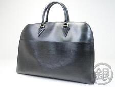 """""""Sale"""" AUTH PRE-OWNED LOUIS VUITTON EPI BLACK SORBONNE LARGE HAND M54512 161898"""