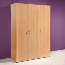 Kleiderschrank Base 3 Schlafzimmerschrank Kinderzimmerschrank Buche 120