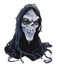 EVIL DEAD ZOMBIE LATEX SKULL MASK & HOOD SCARY HALLOWEEN FANCY DRESS COSTUME NEW