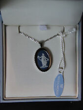 Wedgwood * Saxon BLUE Floral Girl Pendant * New & Unused * BOXED * RRP £80