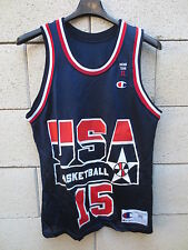 VINTAGE Maillot basket USA shirt DREAM TEAM 2 Champion JOHNSON n°15 36 1994