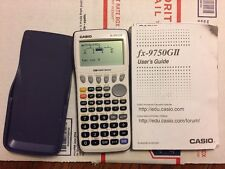 CASIO FX-9750GII GRAPHING CALCULATOR WITH CASE..... ( WORKS GREAT ) ---