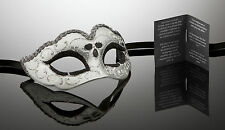 kleine original venezianische Maske für Karneval Maskenball Augenmaske silber