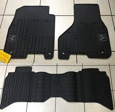 BLACK RUBBER SLUSH FLOOR MATS 2013-2016 RAM 1500 2500 & 3500 CREW CAB BRAND NEW!