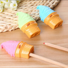 New Ice Cream Pattern Double Pencil Sharpener School Kid Favorite Cute Sharpener
