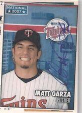 Minnesota Twins MATT GARZA autographed 2007 National card