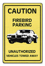 GM Chevy Chevrolet Coution Firebird Parking US Car Retro Sign Blechschild Schild