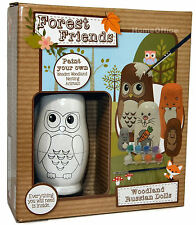 Paint Your Own Nesting Animals - Like Russian Dolls New Toy