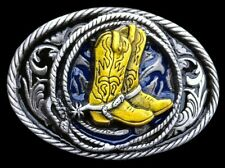 Western Cowboy Cowgirl Boots Belt Buckle Rodeo Rider Boucle de Ceinture
