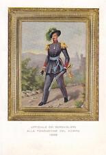 A9303) MILANO, 3 REGGIMENTO BERSAGLIERI, UFFICIALE DEL 1836.