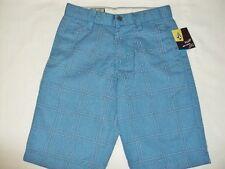 NEW VOLCOM BOY FRICKIN PLAID CHINO BLUE SHORT size waist 26 AA38 $55