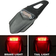 Clear Lens Brake Rear Tail LED Light Fender For Motorbike Enduro Trail DRZ400