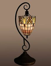Table Lamp Tiffany Style Handcrafted Stained Glass Hanging Light 22-inch Lamps