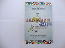 2014 World Cup Finals Official Sao Paulo Tourist Map in English &Portuguese MINT