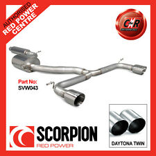 VW Mk7 Golf GTI 13 on Scorpion Exhaust Cat-Back Resonated 2x100mm Daytona SVW043