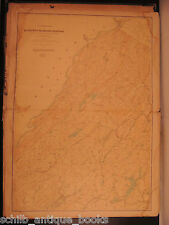 1880 HUGE Folio Atlas of New Jersey America Geography New England MAPS Trenton