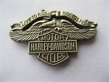 Metal Pin Badge USA Biker Sportster FatBoy Cruiser Bobber Chopper - Live to Ride
