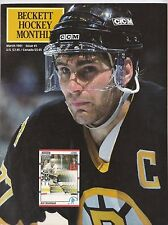 Beckett Hockey Monthly March 1991 #5 Ray Bourque And Mike Bossy NHL