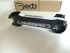 """DEDA Zero 1 set anteriore Attacco del manubrio 1 1/8"""" 130 mm -6° +6° nero bianco"""