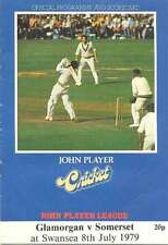 Glamorgan v Somerset 1979 John Player League Cricket Programme, Swansea