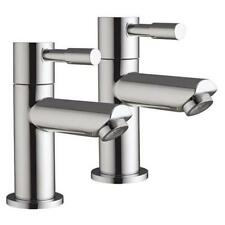 Lola 3 - Pair Of Hot And Cold Modern Chrome Lever Bathroom Bath Taps