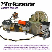Deluxe 7-Way Stratocaster Strat Wiring Kit - Push/Pull Pot Hand Built in the UK