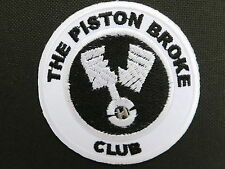 THE PISTON BROKE CLUB Biker 59 Cafe Racer Embroidered Iron On Patch 2.9""