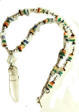 Lemurian, Gemstone Chakra Chips, Crystal Necklace,  Handcrafted REDUCED SALE N23