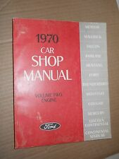 Ford 1970 Car Shop Manual: Volume Two : Engine (1969, Paperback, Illustrated