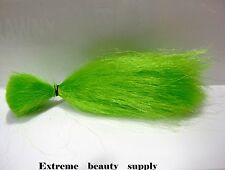 Supreme Materials Synthetic fly fishing tying flies jig tie GREEN hair