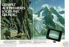 Publicité advertising 1983 (2 pages) Téléviseur télévision Monolith de Grundig
