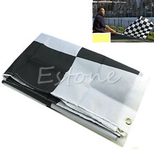 1PC New 90cm x 150cm Black White Nascar Flag Checkered Racing Banner