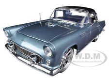 1956 FORD THUNDERBIRD BLUE W/CUSTOM WHEELS 1/18 MODEL CAR BY MOTORMAX 79005