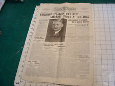 Vintage paper: THE TECH jan 2, 1923; official news organ of technology, 4pgs